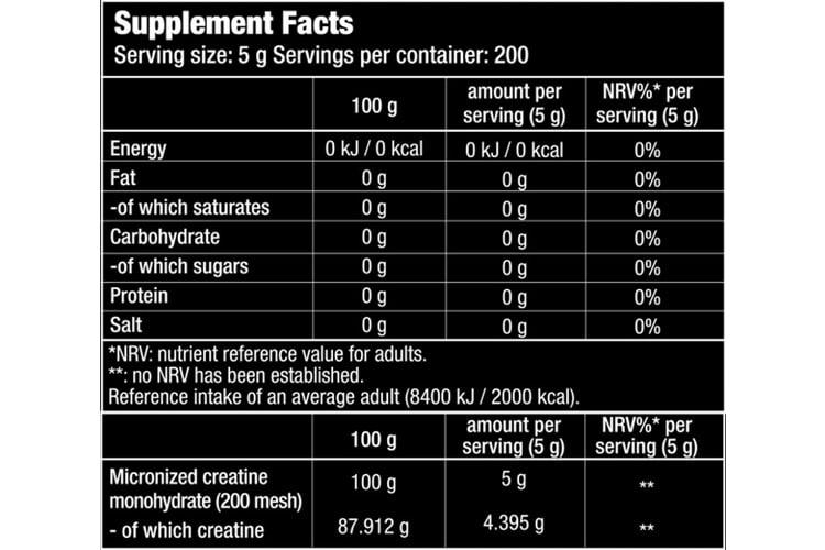 Biotech USA 13005030000 100% Créatine Monohydrate avis