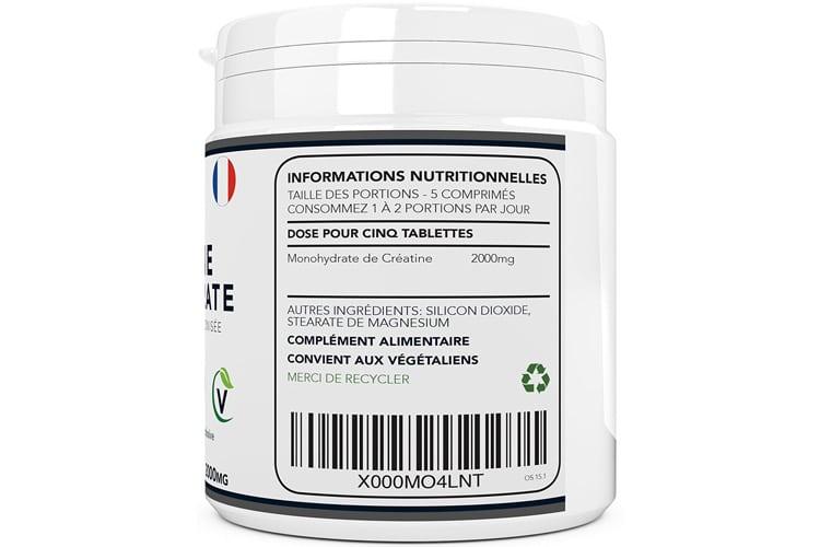 OSHUNsport Comprimés de créatine de monohydrate test