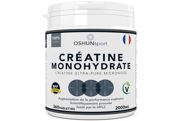 Choisissez l'OSHUNsport Comprimés de créatine de monohydrate pour augmenter votre puissance musculaire